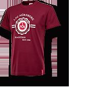 Weinrotes FCN T-Shirt mit Stempel-Logo