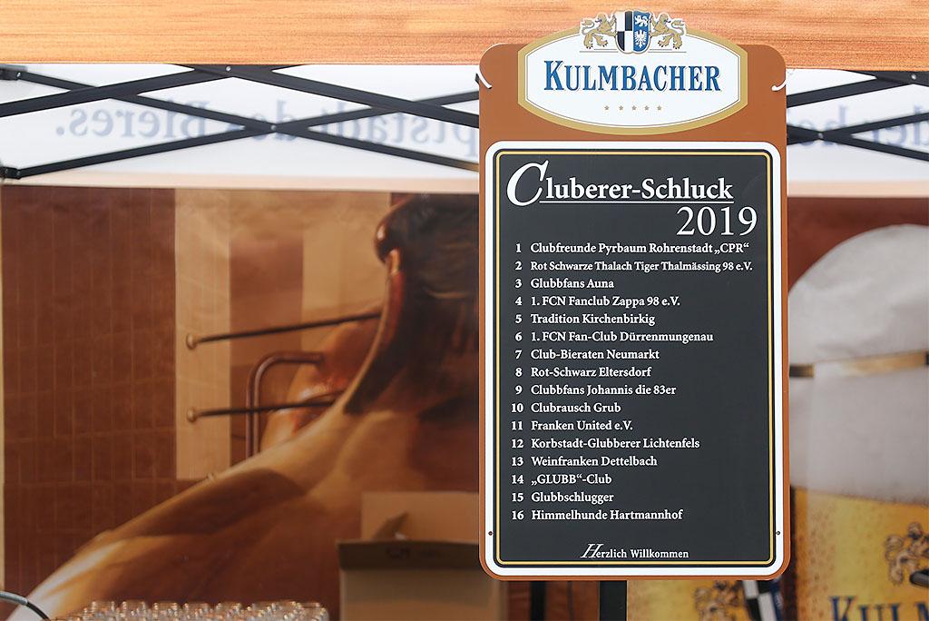 Cluberer-Schluck Zwischenrunde 2018/2019